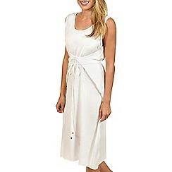Lisca - White 'Livorno' sleeveless midi dress