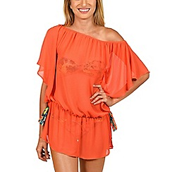 Lisca - Orange 'Honolulu' bardot tunic