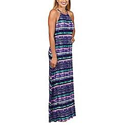 Lisca - Purple 'Casablanca' high neck maxi dress