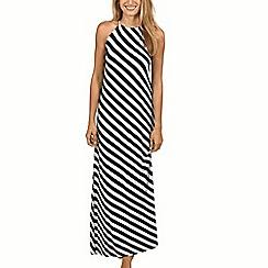 Lisca - Monochrome stripe 'Egipt' maxi dress