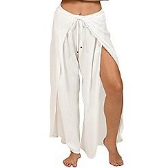 Lisca - White 'Livorno' beach trousers