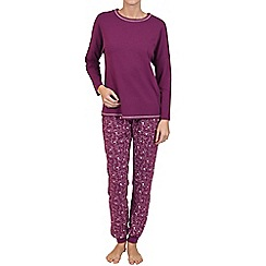 Lisca - Burgundy 'Dreamy' cotton pyjama set