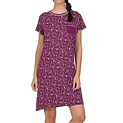 Lisca - Burgundy 'Dreamy' cotton nightdress