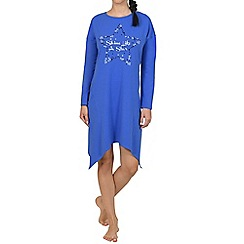 Lisca - Blue star motif cotton nightdress
