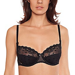 Lisca - Black 'Irina' lace detail full cup bra