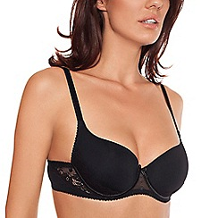 Lisca - Black 'Irina' soft foam cup t-shirt bra