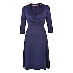 Fever - Navy jersey 'Andrea' v-neck wrap dress
