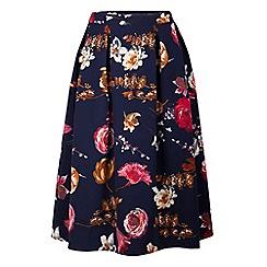 Fever - Multicoloured floral print 'Elodie' midi skirt