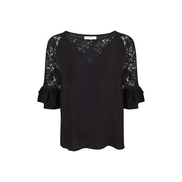 Black 'Eloise' top lace Fever detail 4qwn1d1Ap