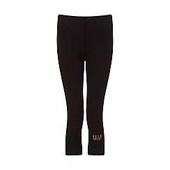 Elle Sport - Black metallic print calf length capri
