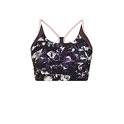 Elle Sport - Multicoloured print racer back sports bra
