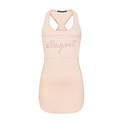Elle Sport - Pink stripe mesh sports vest