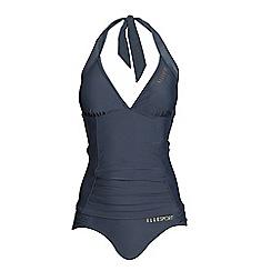 Elle Sport - Grey halterneck tummy control tankini set