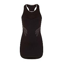Elle Sport - Black high neck vest with support