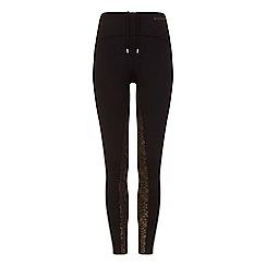 Elle Sport - Black metallic print leggings