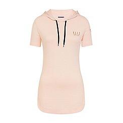 Elle Sport - Pink stripe hooded layering top