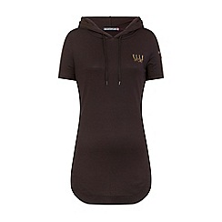 Elle Sport - Black stripe hooded layering top