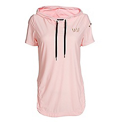Elle Sport - Pink textured hooded layering top