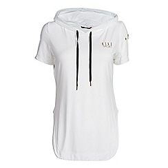 Elle Sport - White hooded layering top