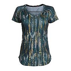 Elle Sport - Green print v neck workout t-shirt