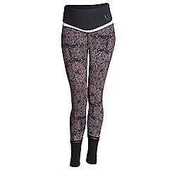 Elle Sport - Black print high waist sports leggings