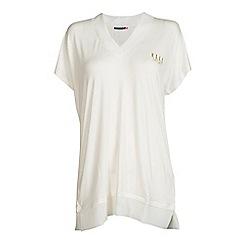 Elle Sport - White V-neck t-shirt