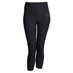 Elle Sport - Black mesh panel capri leggings