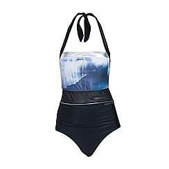 Elle Sport - Black bandeau halter neck swimsuit