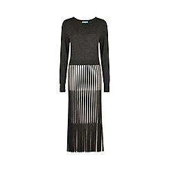Fever - Charcoal 'Lewes' long sleeve dress