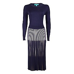 Fever - Blue 'Lewes' long sleeves dress
