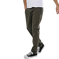 Threadbare - Khaki 'Boston' Chino Trousers