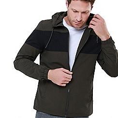 Threadbare - Khaki 'Dundee' Lightweight Zip Through Jacket