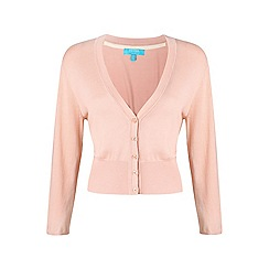 Fever - Peach 'Mariel' v-neck cardigan