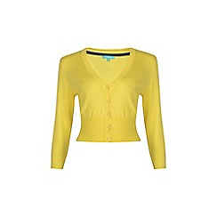 Fever - Yellow 'Mariel' v-neck cardigan