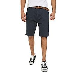 Threadbare - Navy Dot 'Baker' Cotton Shorts
