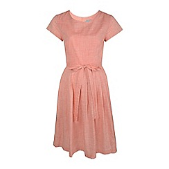 Fever - Coral cotton 'Thea' dress