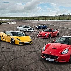 Buyagift - Double Supercar Driving Blast with Free High Speed Passenger Ride - Week Round Gift Experience