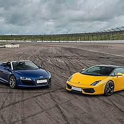 Buyagift - Double Supercar Thrill with Free High Speed Passenger Ride - Week Round Gift Experience