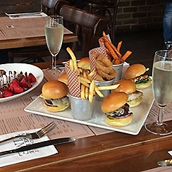 Buyagift - Burger Afternoon Tea for Two at BRGR.CO in Soho London Gift Experience for 2