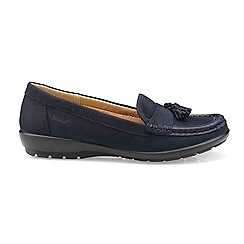 Hotter - Navy 'Abbeyville' wide fit moccasin shoes