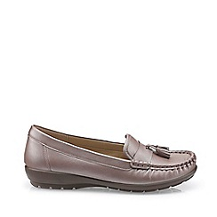 Hotter - Lilac 'Abbeyville' Wide Fit Mocassin Shoes