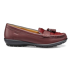 Hotter - Maroon 'Abbeyville' wide fit mocassins