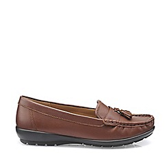 Hotter - Dark Tan 'Abbeyville' Wide Fit Mocassin Shoes