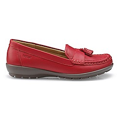 Hotter - Bright red leather 'Abbeyville' moccasin shoes