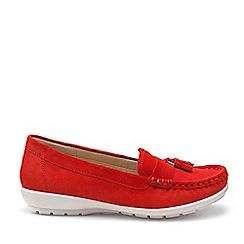Hotter - Dark Orange 'Abbeyville' Mocassin Shoes