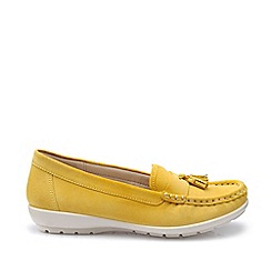 Hotter - Bright Yellow 'Abbeyville' Mocassin Shoes