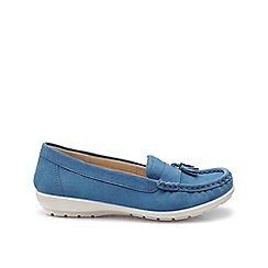 Hotter - Blue 'Abbeyville' moccasin shoes