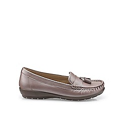 Hotter - Mauve 'Abbeyville' moccasin shoes