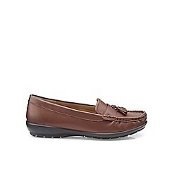 Hotter - Dark tan 'Abbeyville' moccasin shoes
