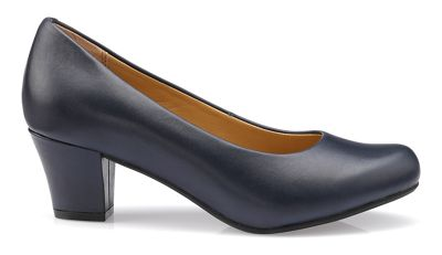Hotter - Navy 'Angelica' mid heel shoes